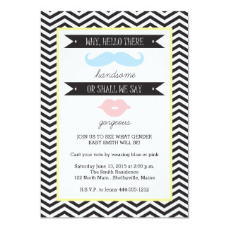 Baby Gender Reveal Party Invitation