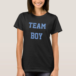 Baby Gender Reveal Party Shirt Team Boy