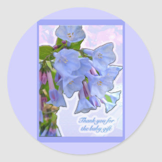 Baby Gift Than You Virginia Bluebells Items Round Sticker