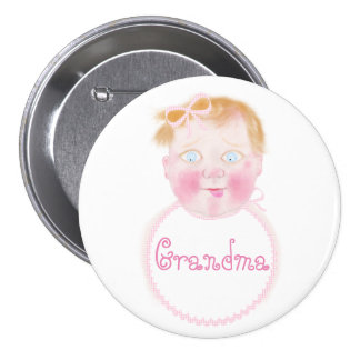 Baby girl baby Shower button by BabyLaia.