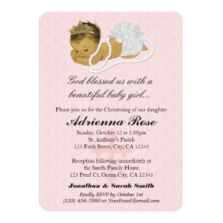 Baby Girl Baptism Christening Invitations PINK 180