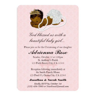 Baby Girl Baptism Christening Invitations PINK 182