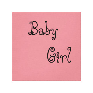 baby girl canvas prints