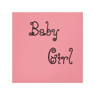baby girl canvas prints