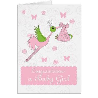 Baby Girl Congratulations, Birth of baby girl Greeting Card