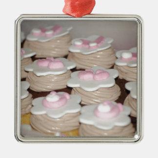 baby girl cupcakes christmas ornament
