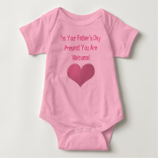 Baby Girl Father's Day Heart