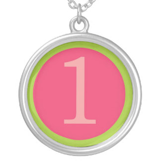 Baby Girl First Birthday Silver Plated Necklace