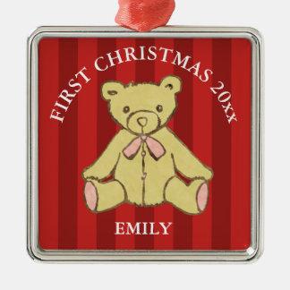 Baby Girl First Christmas Add Name and Year Christmas Ornament