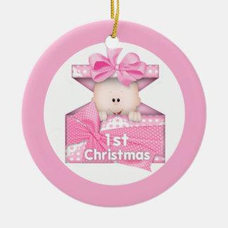 Baby Girl First Christmas Christmas Ornament