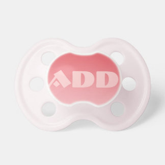Baby Girl Pacifier: Coral Ombre Baby Pacifiers