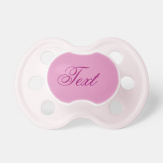 Baby Girl Pacifier: Pretty Pink Pacifier