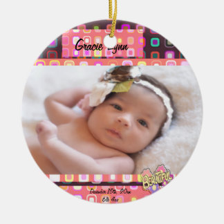 Baby Girl Photo Keepsake Christmas Ornament