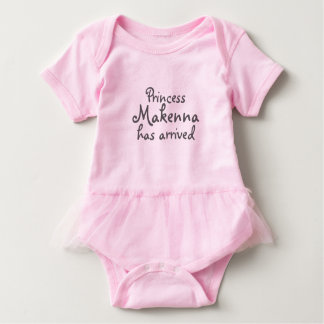 Baby Girl Princess Has Arrived Tutu Baby Bodysuit