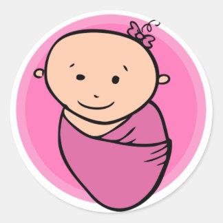 Baby Girl Round Sticker