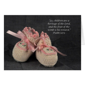 Baby Girl Scripture Congratulations Card