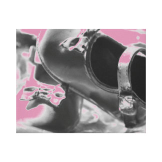 Baby Girl Shoes Design Canvas Print
