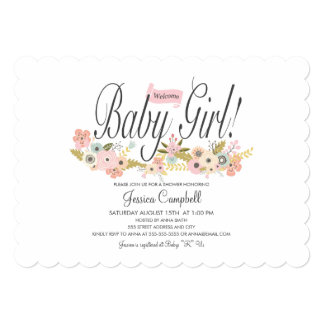 Baby Girl, Shower Invitation