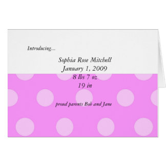 Baby Girl Shower Invitation Note Card