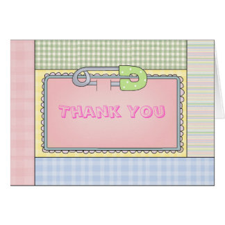 Baby Girl Thank You Note Card or Shower Invitation
