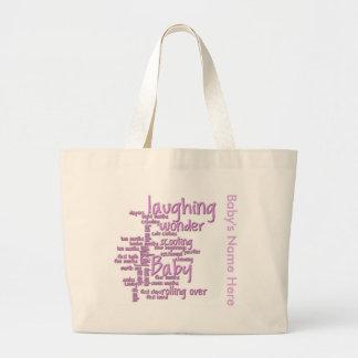 Baby Girl Word Art Bag
