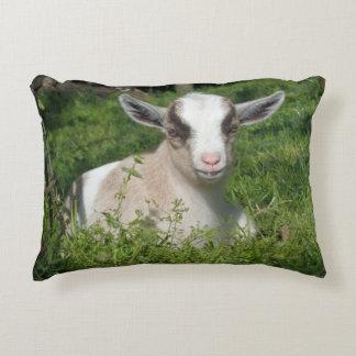 Baby Goat Barnyard Farm Animal Grey Gray Chevron Decorative Cushion
