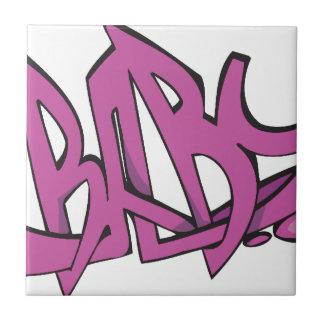 Baby Graffiti Ceramic Tiles