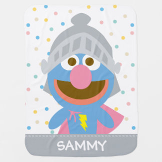 Baby Grover in Armor | Add Your Name Baby Blanket