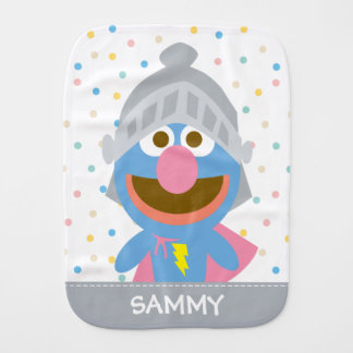 Baby Grover in Armor | Add Your Name Burp Cloth