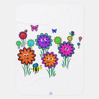 Baby Happy Flowers Receiving Blanket