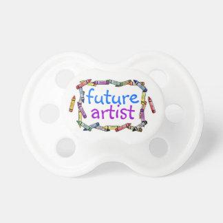 Baby is a Future Artist Crayon Fun Fooler Baby Pacifier