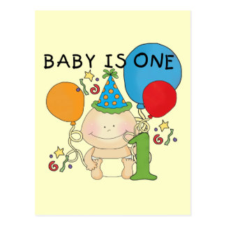Baby is One  Tshirts and Gifts Postcard