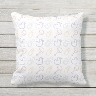 Baby Items Pattern Outdoor Cushion