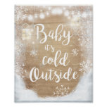 Baby It's Cold Outside Sign Winter Decor Rustic