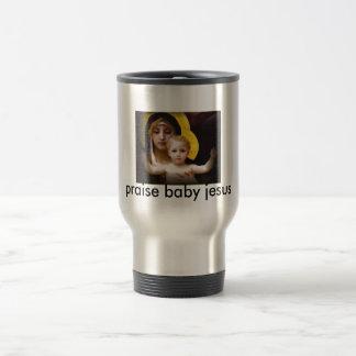 baby jesus travel coffe mug