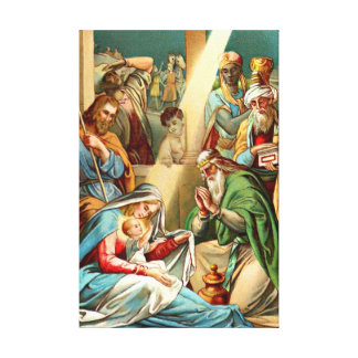baby jesus Wrapped Canvas