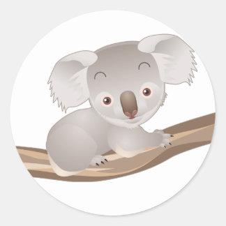 Baby Koala Round Sticker