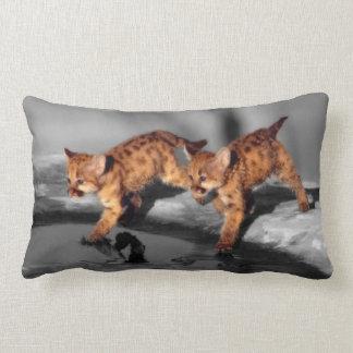 Baby Leopards Lumbar Pillow