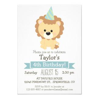 "Baby Lion Kid's Birthday Party Invitation 5"" X 7"" Invitation Card"