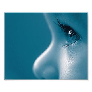 Baby Looking Child Face Eyes Eyelashes Blue Photo Print