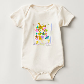 * Baby Love! - Organic Fish/Bell Toy Bodysuit *