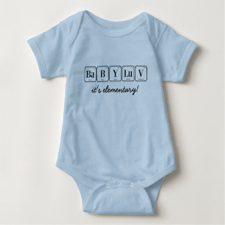 BABY LUV: it's elementary!  (periodic table) Baby Bodysuit