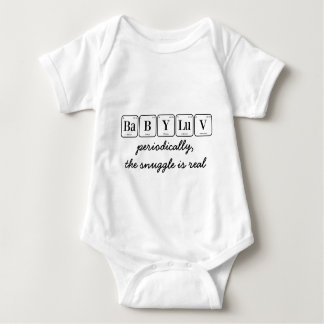 BABY LUV: the snuggle is real (periodic table) Baby Bodysuit