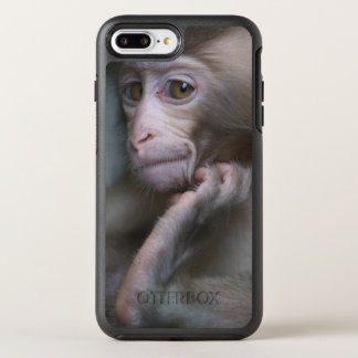 Baby monkey staring. OtterBox symmetry iPhone 8 plus/7 plus case