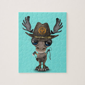 Baby Moose Zombie Hunter Puzzles