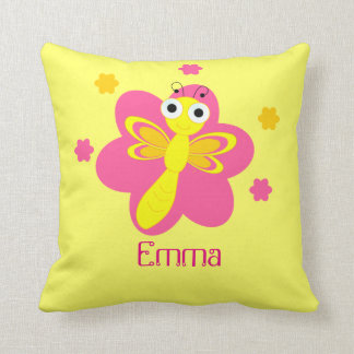Baby name dragonfly pillow