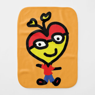baby nerd heart burp cloths