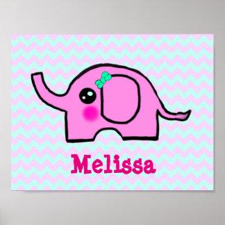 Baby Nursery Elephant Poster