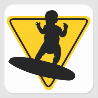 Baby on Surf Board Stickers