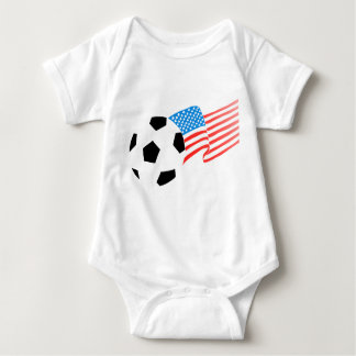 Baby One Piece American Soccer Baby Bodysuit